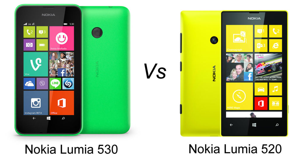 Nokia Lumia 520  vs Nokia Lumia 530 – camera si hardware