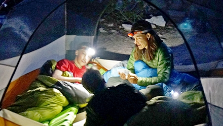 Lanterna LED, ajutor de nadejde in camping